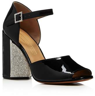 Marc Jacobs Women's Kasia Embellished Patent Leather Block Heel Sandals