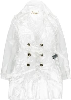 Patrizia Pepe transparent double breasted coat
