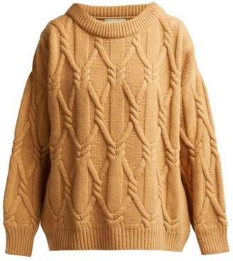 Queene And Belle - Jean Relaxed Fit Lambswool Sweater - Womens - Camel