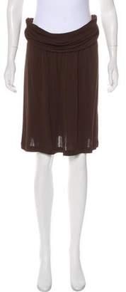 Celine Knee-Length Draped Skirt