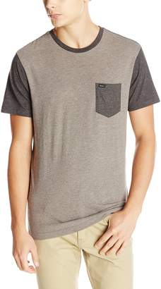 RVCA Men's Change Up Shirt, Grey Noise