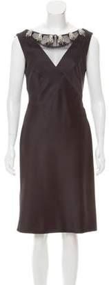 Alberta Ferretti Sleeveless Embellished Dress