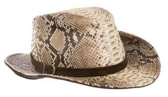 Eric Javits Snakeskin Fedora Hat