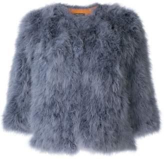Yves Salomon feather cropped jacket