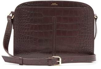 A.P.C. Aurelie Crocodile Effect Leather Cross Body Bag - Womens - Burgundy