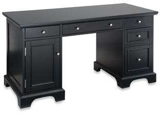 Bed Bath & Beyond Home Styles Bedford Black Pedestal Desk