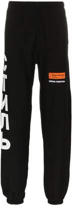 Heron Preston print cotton sweat pants