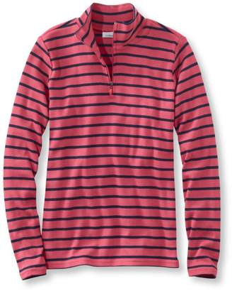 L.L. Bean L.L.Bean French Sailor's Pullover, Long-Sleeve Quarter-Zip