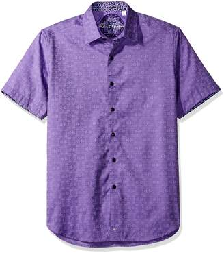 Robert Graham Men's Classic Fit Woven Short Sleeve Button Down Shirt