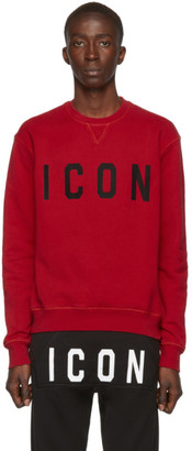 DSQUARED2 Red Cool Fit Sweatshirt