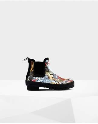 Hunter Womens Original Hypernormal Print Chelsea Boots