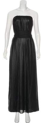 L'Agence Belted Maxi Dress