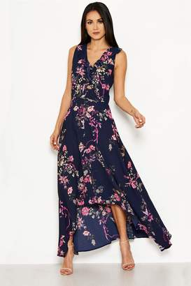 234cd9d463c Next Womens AX Paris Floral Dip Hem Maxi Dress