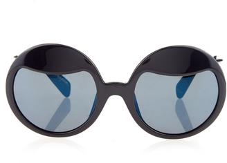 YOHJI YAMAMOTO Round-frame sunglasses $344 thestylecure.com