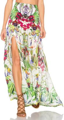 Camilla High Slit Wide Leg Trouser $530 thestylecure.com