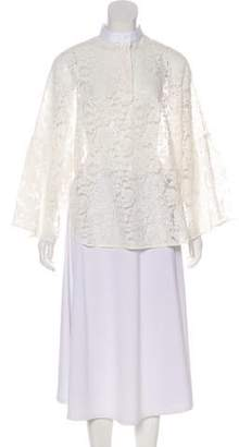 Valentino Lace Sheer Top