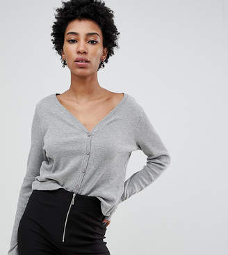 Noisy May Tall textured cropped cardigan