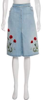 Stella McCartney Denim Knee-Length Skirt