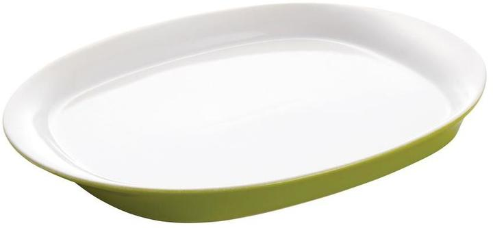 Rachael Ray Round and Square 14 in. Oval Platter in Green