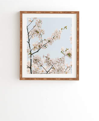 Deny Designs Cherry Blossom in Seoul Framed Wall Art