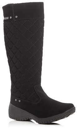 Khombu Alex Quilted Waterproof Wedge Boots $95 thestylecure.com