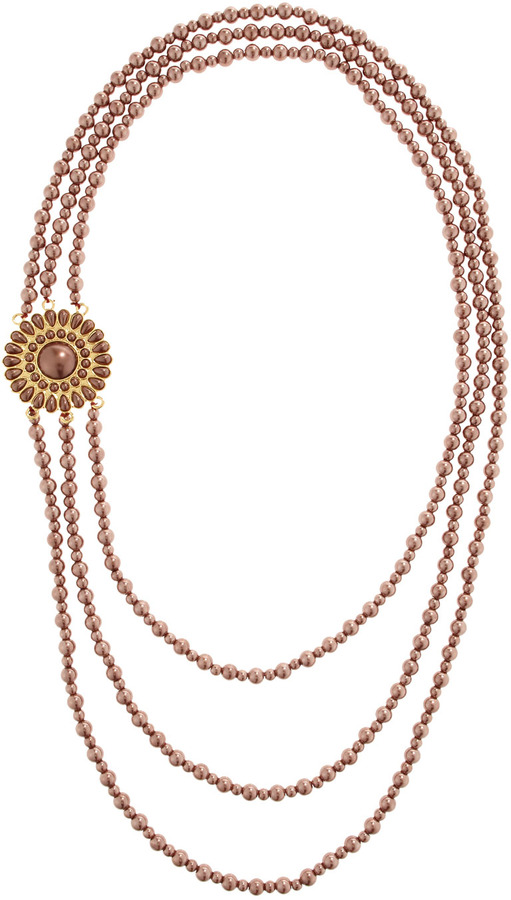 Amrita Singh Sunflower Faux-Pearl Necklace