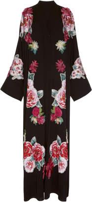 Dolce & Gabbana Floral Print Charmeuse Abaya