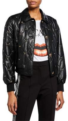 Escada Sport Quilted Button-Front Bomber Jacket