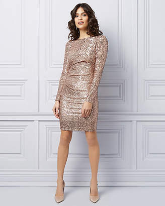 Le Château Long Sleeve Sequin Cocktail Dress