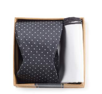 The Tie Bar Charcoal Grey Bow Tie Box