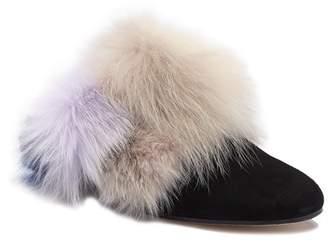 Stuart Weitzman Furgetit Genuine Rabbit Fur Loafer (Women)