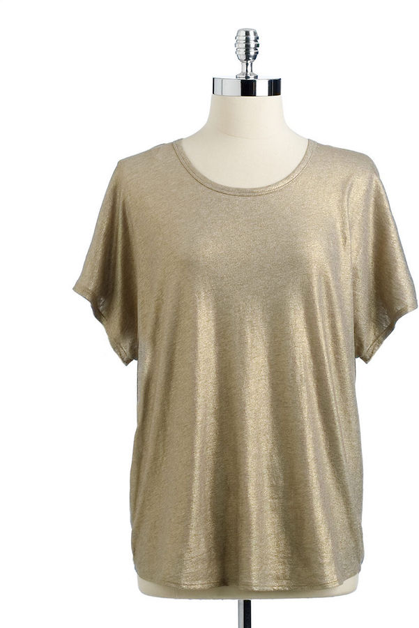 Vince Camuto TWO BY Slouchy Metallic Tee