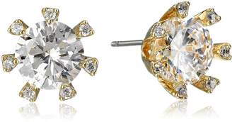 "Kenneth Jay Lane CZ by Basic"" Cubic Zirconia Stud Earrings (4cttw)"