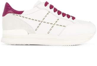 Hogan contrast detail sneakers