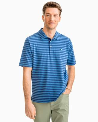 DAY Birger et Mikkelsen Southern Tide Heathered Channel Marker Stripe Polo