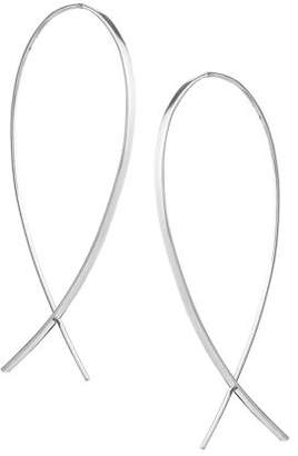 Lana Small Wide Upside Down Hoop Earrings