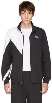 Reebok Classics Black and White Logo Track Jacket