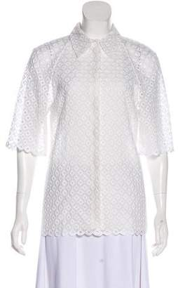 Stella McCartney Lace Button-Up Top
