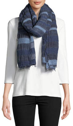 Eileen Fisher Wool-blend Striped Scarf