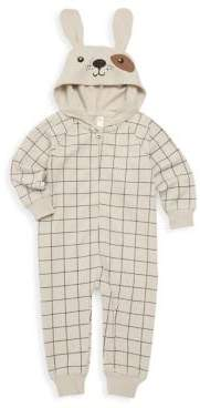 Baby Boy's Puppy Hooded Playsuit