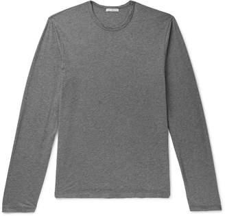 James Perse Mélange Cotton And Cashmere-Blend Jersey T-Shirt