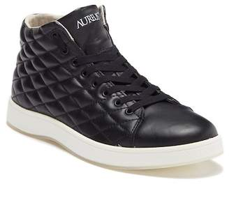 Aureus Lux Leather Quilted High Top Sneaker
