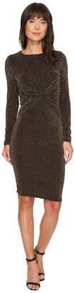 MICHAEL Michael Kors Twist Waist Long Sleeve Dress Women's Dress