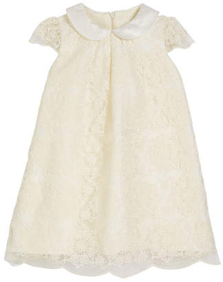 Luli & Me Scalloped Lace A-Line Dress, Size 2-4T