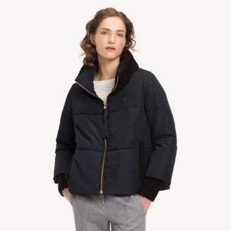 1b87a4aba5af Tommy Hilfiger Knit Detail Puffer Jacket