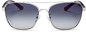 Tory Burch Women's Brow Bar Aviator Sunglasses, 57mm
