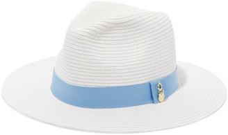 Melissa Odabash - Grosgrain-trimmed Woven Paper Fedora - White $135 thestylecure.com