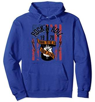 N. Rock N' Roll Guitar Vinatge Hoodie Music Band Rocker