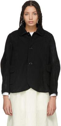 Renli Su Black A-Line Jacket