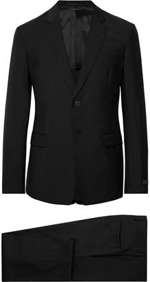 Prada Black Tela Slim-Fit Wool And Mohair-Blend Suit